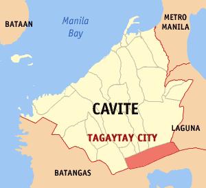 Locatie gemeente Tagaytay in de provincie Cavite - Luzon, Filipijnen