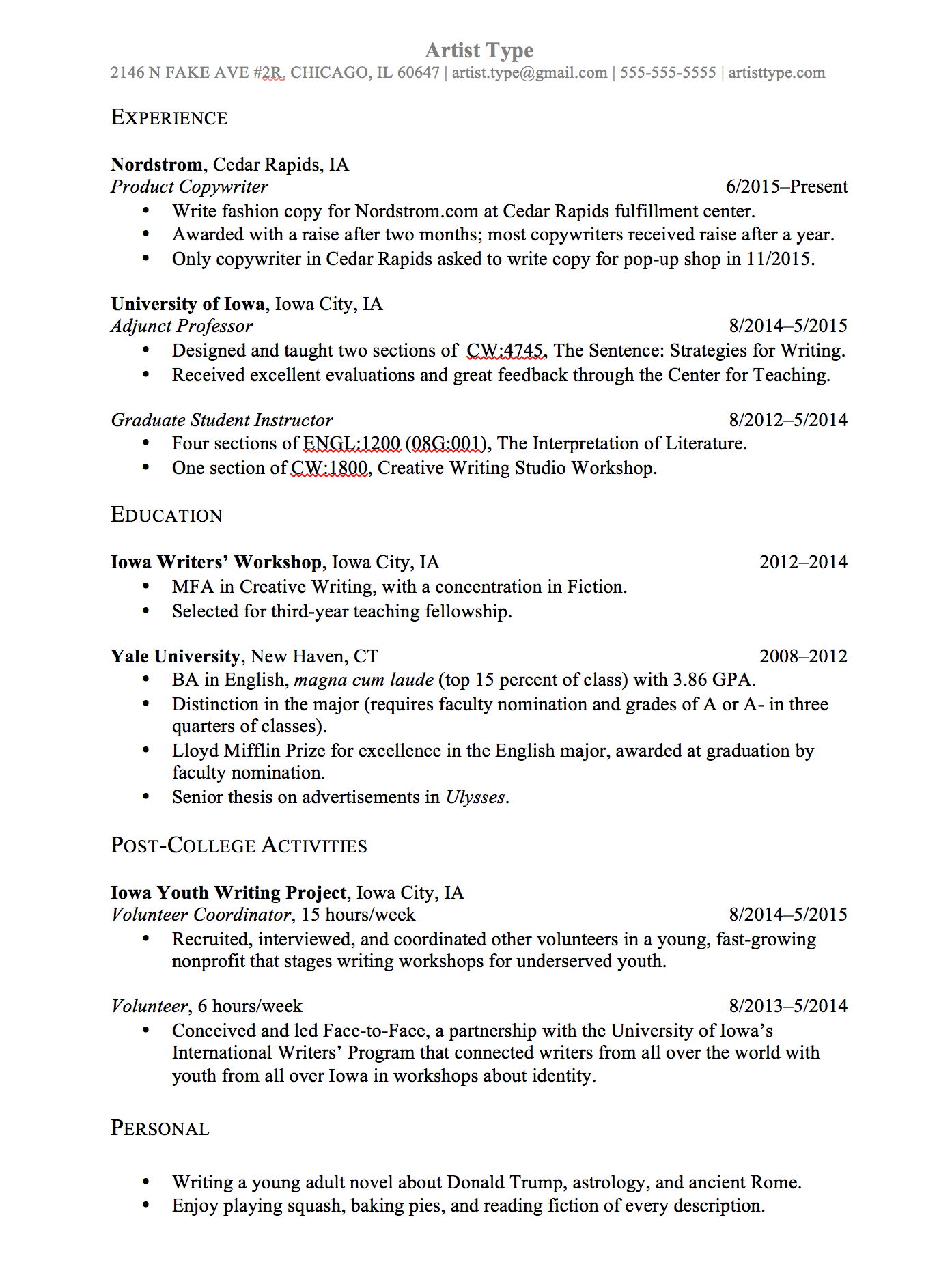 ⭐️Résumé Template For Law School Admissions 7Sage Admissions