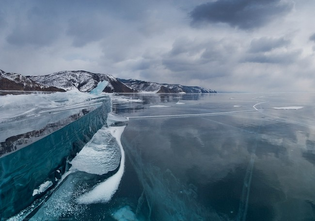 Majestic Frozen Lake Baikal, Siberia, Russia