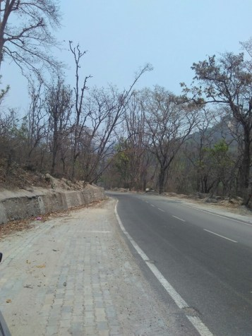 Weekend Road Trip To Mussoorie - the road at Mohand
