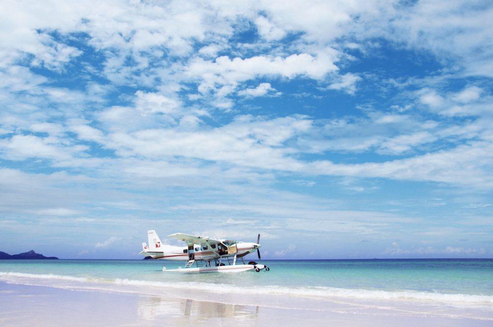 133675 Seaplane, Whitehaven Beach Credit One&Only Hayman Island; Destination QLD