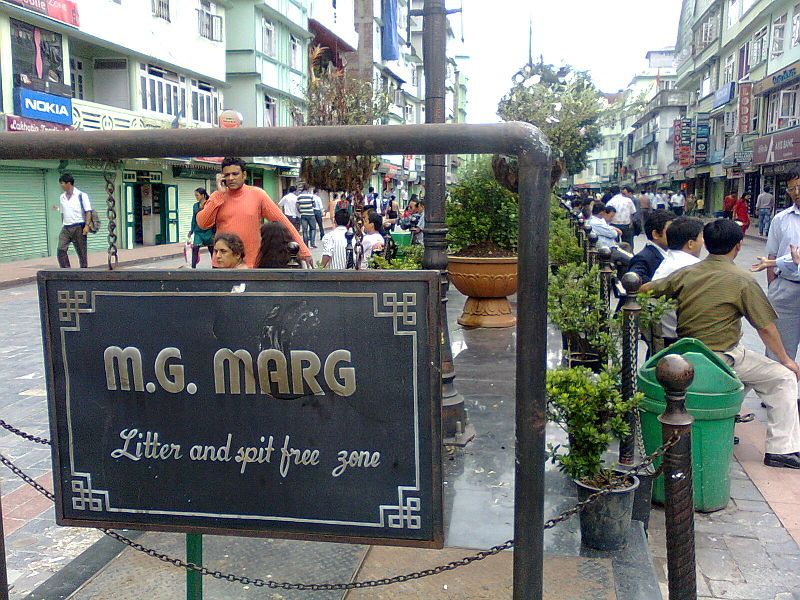 road of MG Marg darjeeling