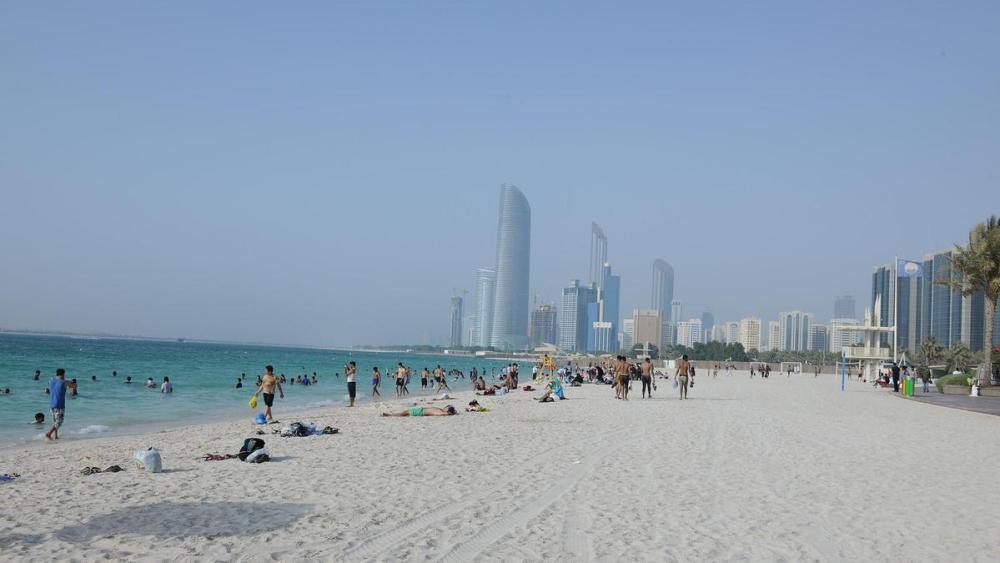beachside in Abu Dhabi
