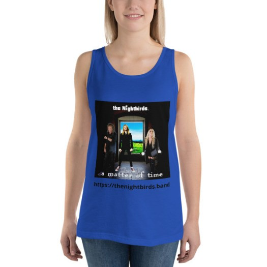 The Nightbirds A MATTER OF TIME themed Bella + Canvas 3480 Unisex Jersey Tank with Tear Away Label