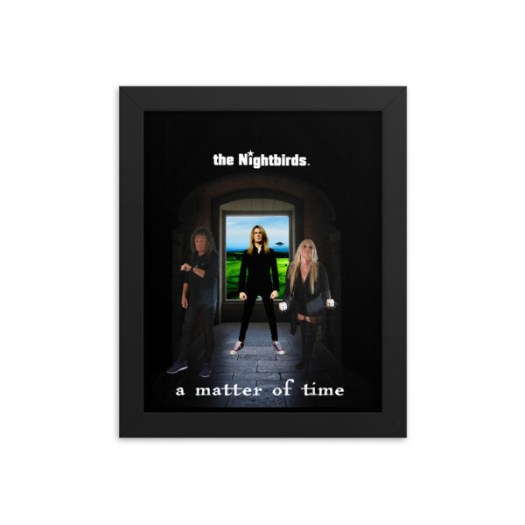 The Nightbirds A MATTER OF TIME Framed poster featuring Robin Gibson, Skully & Edoardo Meregalli