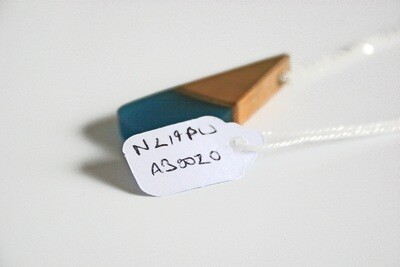 Carlow Plum Wood Collection: Small Aqua Blue pendant