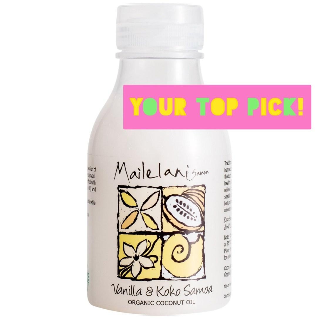 END OF STOCK OIL - Vanilla & Koko Samoa Organic Coconut Body Oil 300ml / 10.14 fl oz