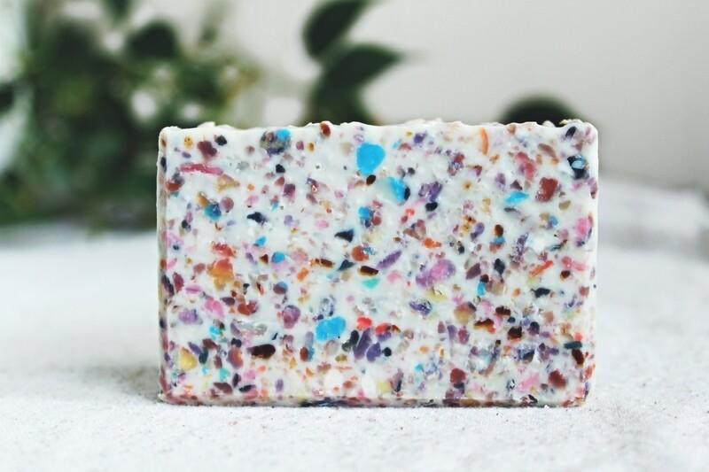 CELEBRATION confetti zero waste rebatched soap