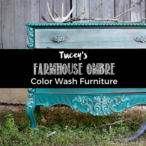 Farmhouse Ombre Color Wash Furniture Tutorial