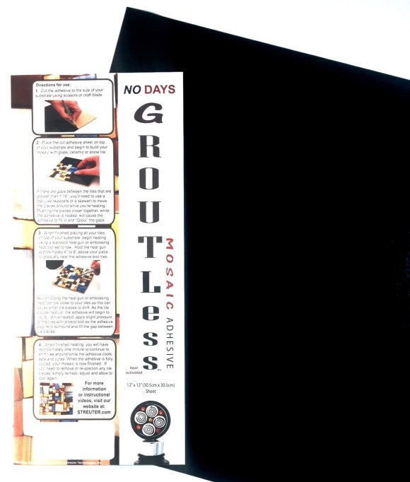 "NO Days Groutless, Black, 1 Sheet Roll 12"" x 48"""
