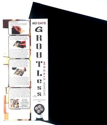 "NO Days Groutless, Black, 1 Sheet Roll 12"" x 48"""