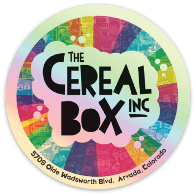 Shiny Metallic CEREAL BOX Sticker!