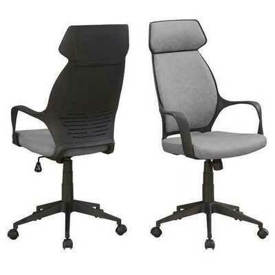 Grey Black Ergonomic Adjustable Microfiber High Back Executive Office Chair