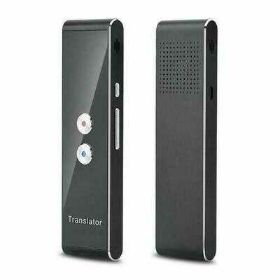 Smart Instant Real Time Voice 40 Languages Translator  black