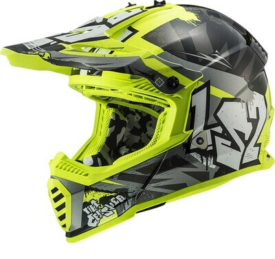 CASCO LS2 CROSS MX 437 FAST EVO col. CRUSHER FLUO