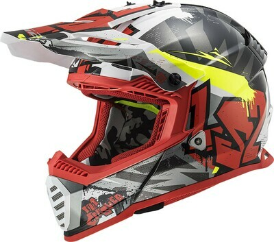 CASCO LS2 CROSS MX 437 FAST EVO col. CRUSHER RED