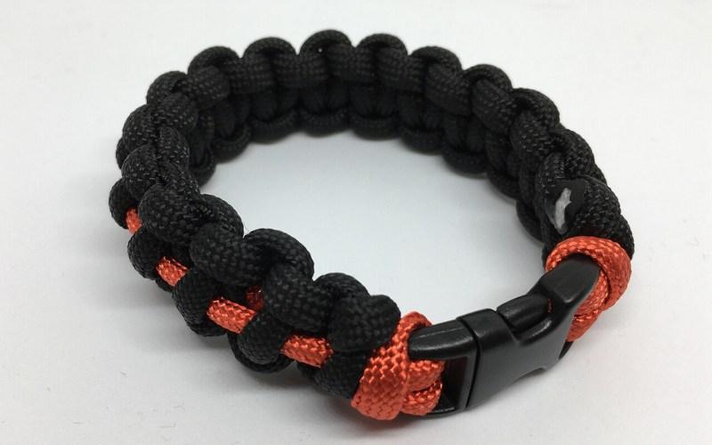 Thin Red Line paracord bracelet