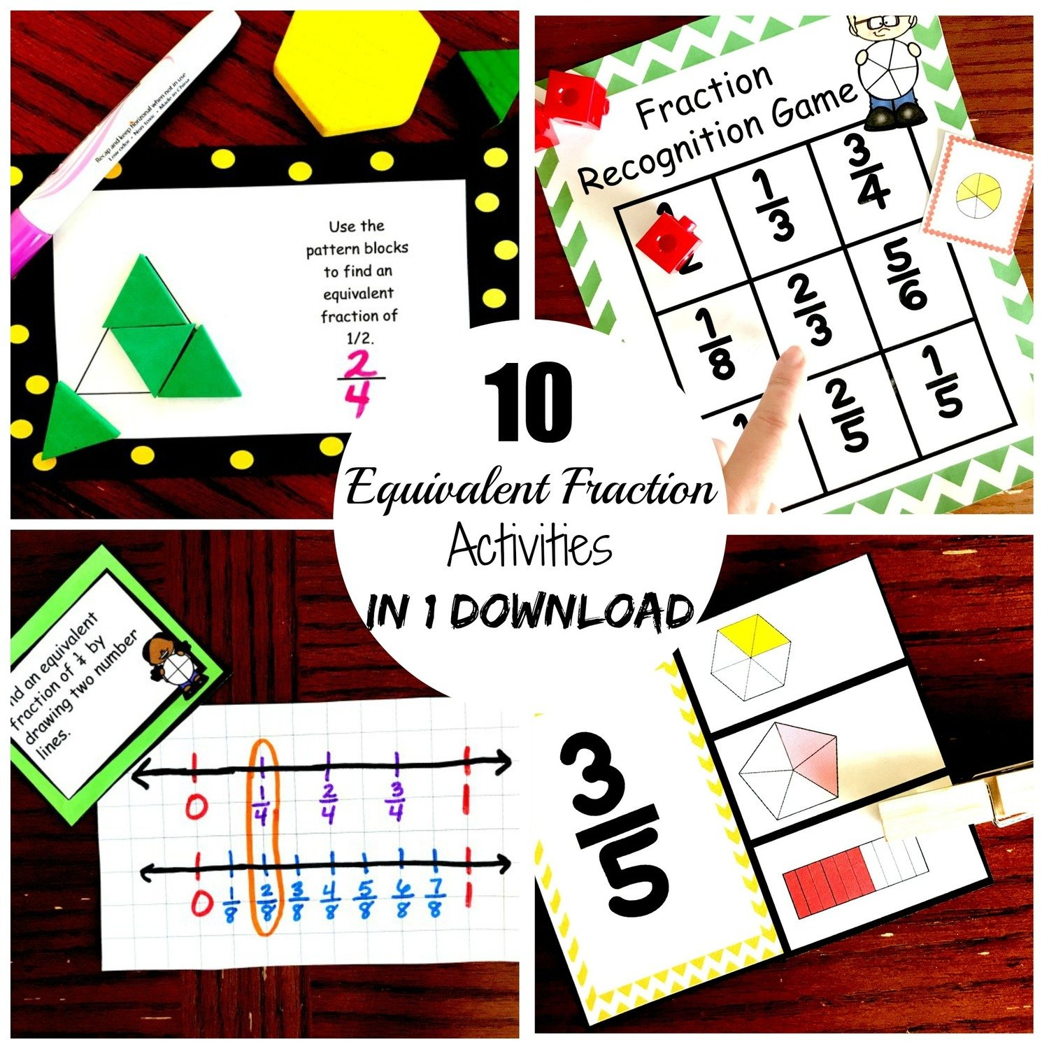 10 Equivalent Fraction Activities