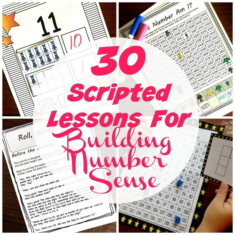 30 Scripted Lessons for Building Number Sense