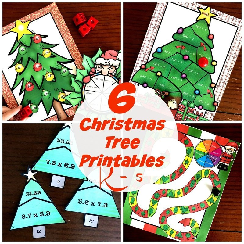 Seven Christmas Tree Math Activities