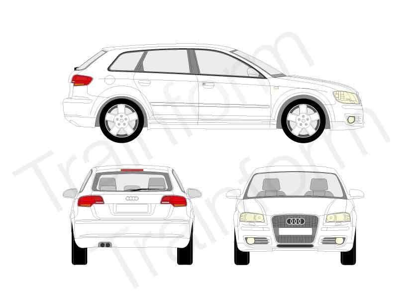Pellicole oscuranti 3M per vetri Audi A3 Sportback 2004