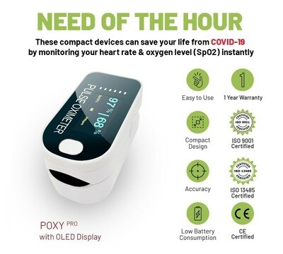 Zovec Pulse Oximeter Poxy Pro (Warranty 1 Year)