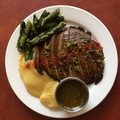 Chimichurri Grilled Portobello: Asparagus and Polenta (GF)