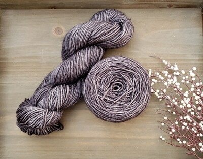 Marble Grey Hand Dyed Yarn