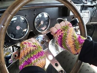 Turtle Bay Wrist Warmers Crochet Pattern
