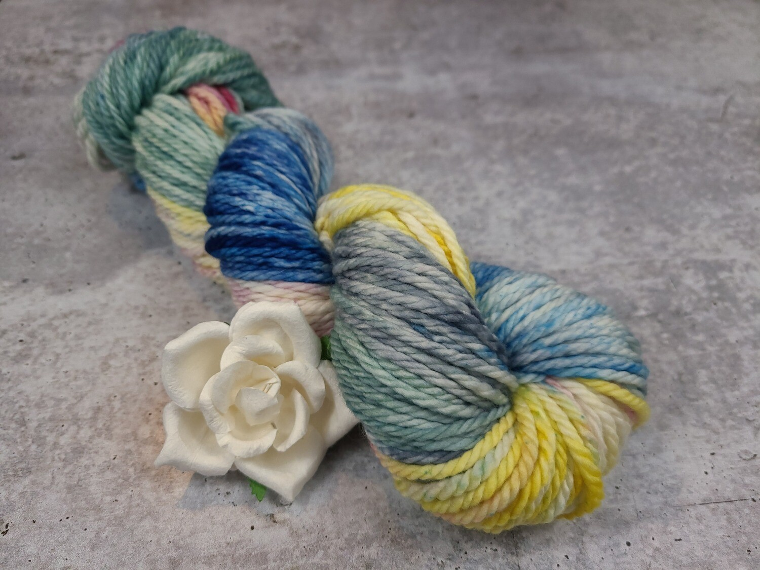 April Showers Hand Dyed Bulky Yarn RTS