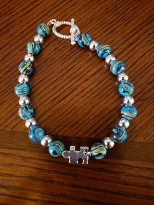 Blue Puzzle Bracelet