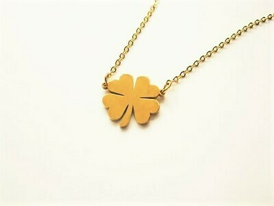 Lucky clover necklace ~ golden classic