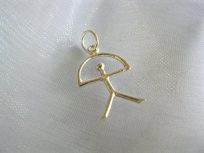 Indalo pendant ~ classic, slim 25mm, silver