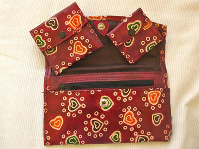 Leather wallet set ~ lovehearts