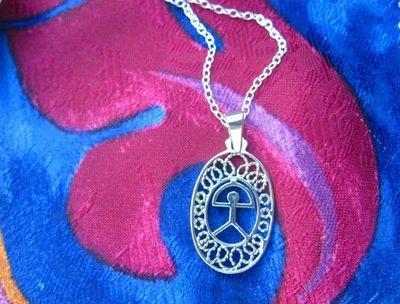 Indalo necklace ~ filigree silver classic