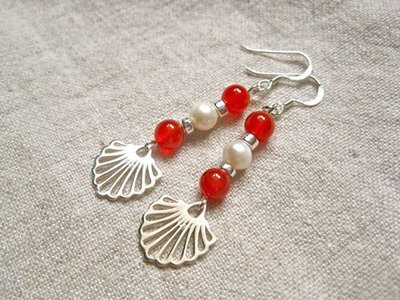 Compostela earrings for someone embarking on something new - even romance