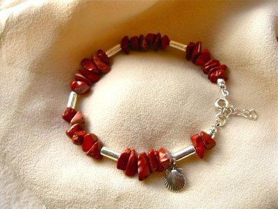 Red jasper guardian bracelet for life's camino