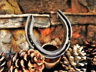 Lucky horseshoe for new home