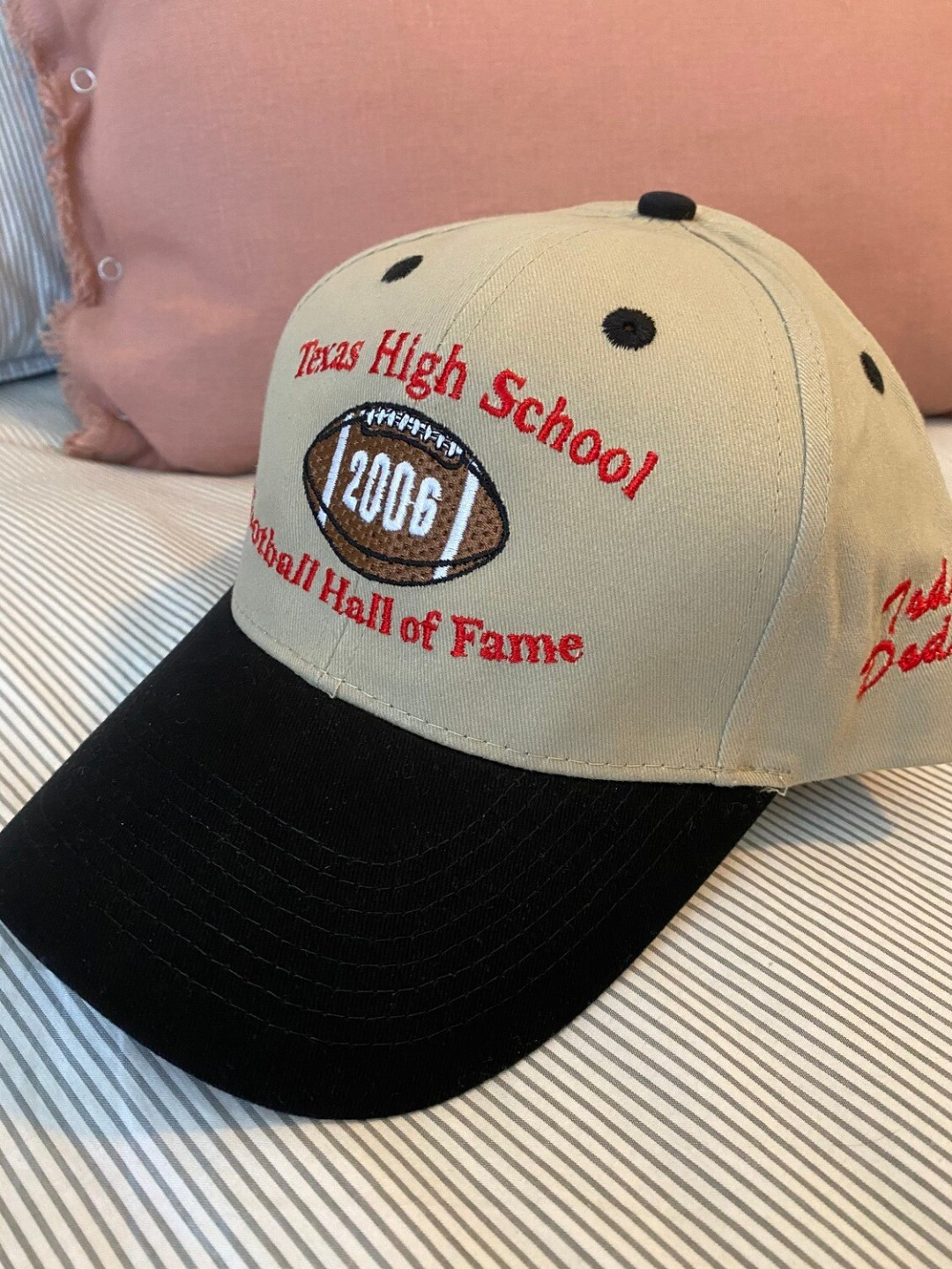Todd Dodge - Signed Hat 2006 Hall of Fame Inductee