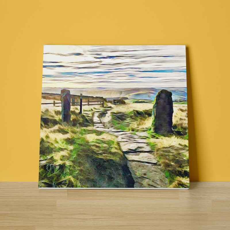 Stanage View Canvas Print