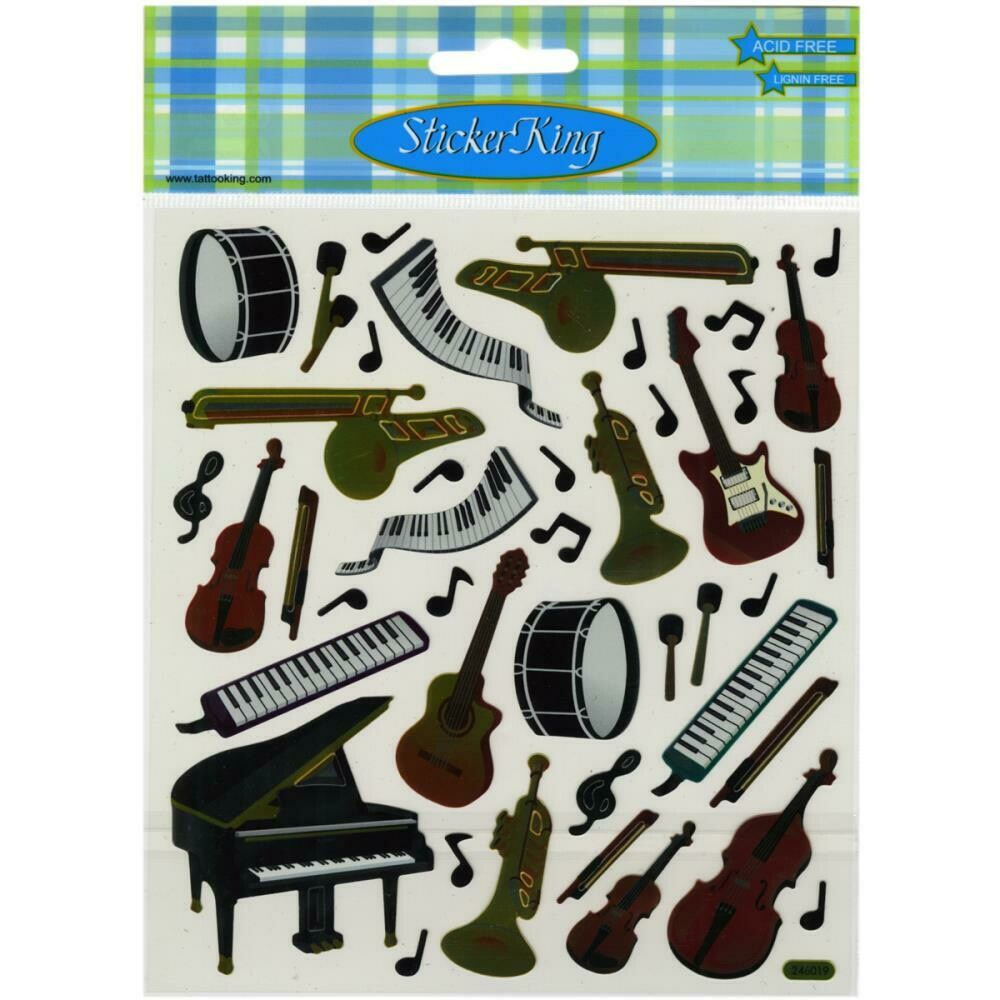 Musical instrument stickers