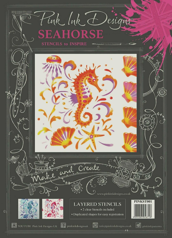 Layered Seahorse Stencils