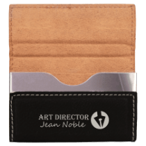 Leatherette Hard Card Case with Magnetic Closure