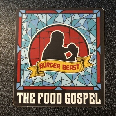Burger Beast: The Food Gospel Sticker