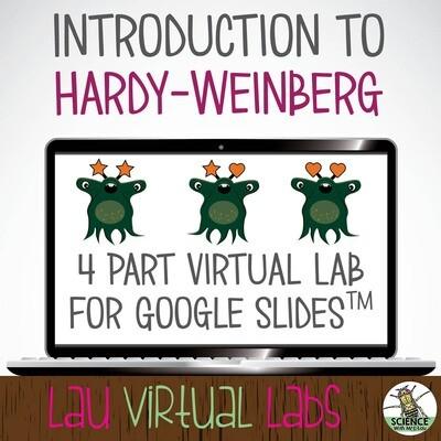 Virtual Alien Evolution Scenario made for Google Slides