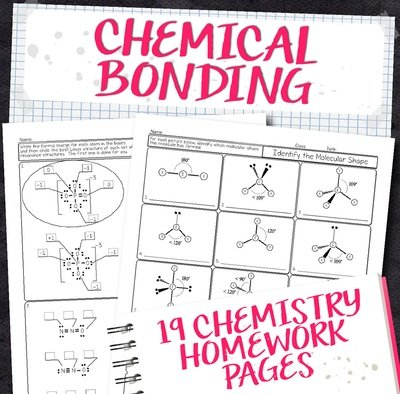 Chemistry Unit 7: Chemical Bonding Homework Pages