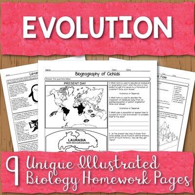 Evolution Homework Pages