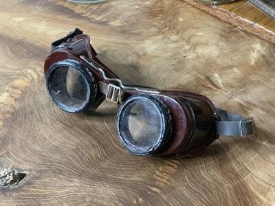 Vintage Goggles, Steampunk Decor, Industrial Decor