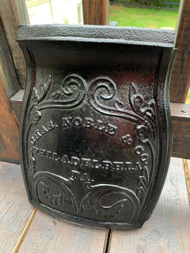 Antique Stove Door, Salvaged Cast Iron