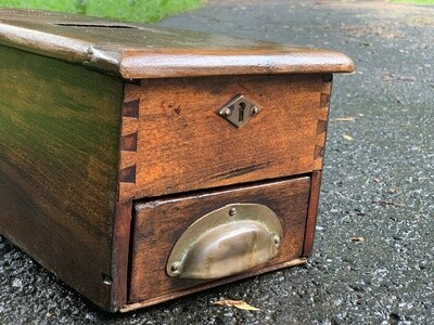 Antique Cash Box, Vintage Storage, Jewelry Box